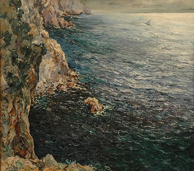 Matteo Sarno (Italian, 1894-1957) Capri oil on canvas