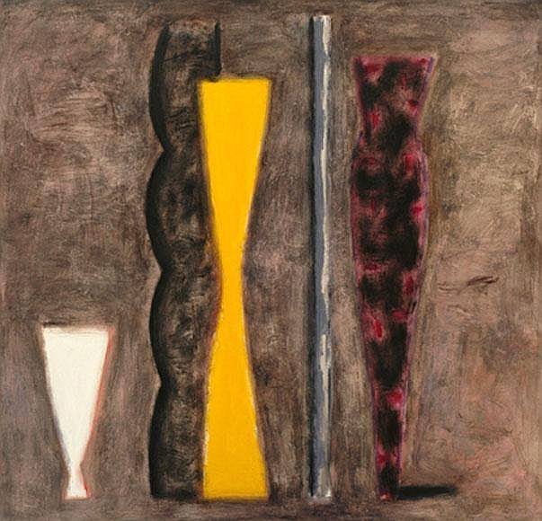 Kevin Lincoln (born 1941) Gold Vase I 1991 oil on canvas