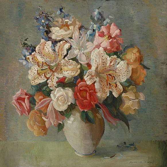 Margaret Coen (1913-1993) Still Life oil on canvas