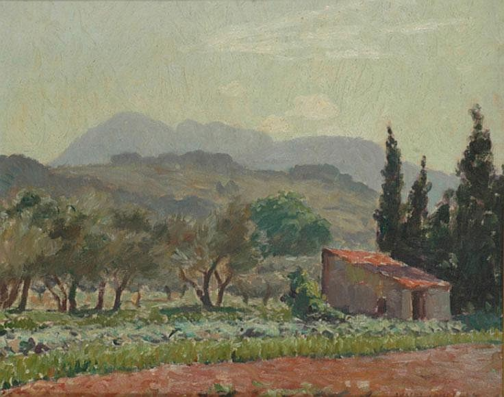 Robert Richmond Campbell (1902-1972) French Landscape oil on canvas