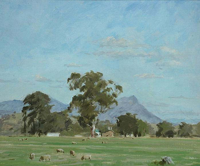 Archibald Douglas Colquhoun (1894-1983) A Little Farm oil on canvas on board