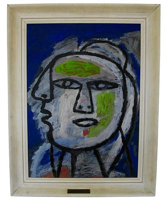 LOUIS VAN ROODE (DUTCH, 1914-1964) Untitled (Woman's Head) oil on board