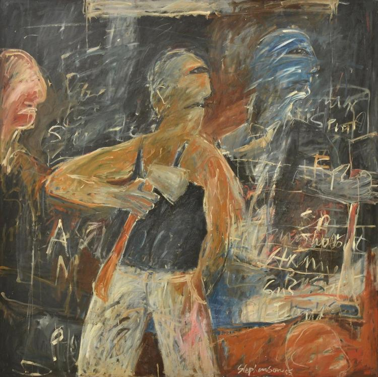 PETER STEPHENSON (born 1943) Man with Axe 1985 oil on canvas