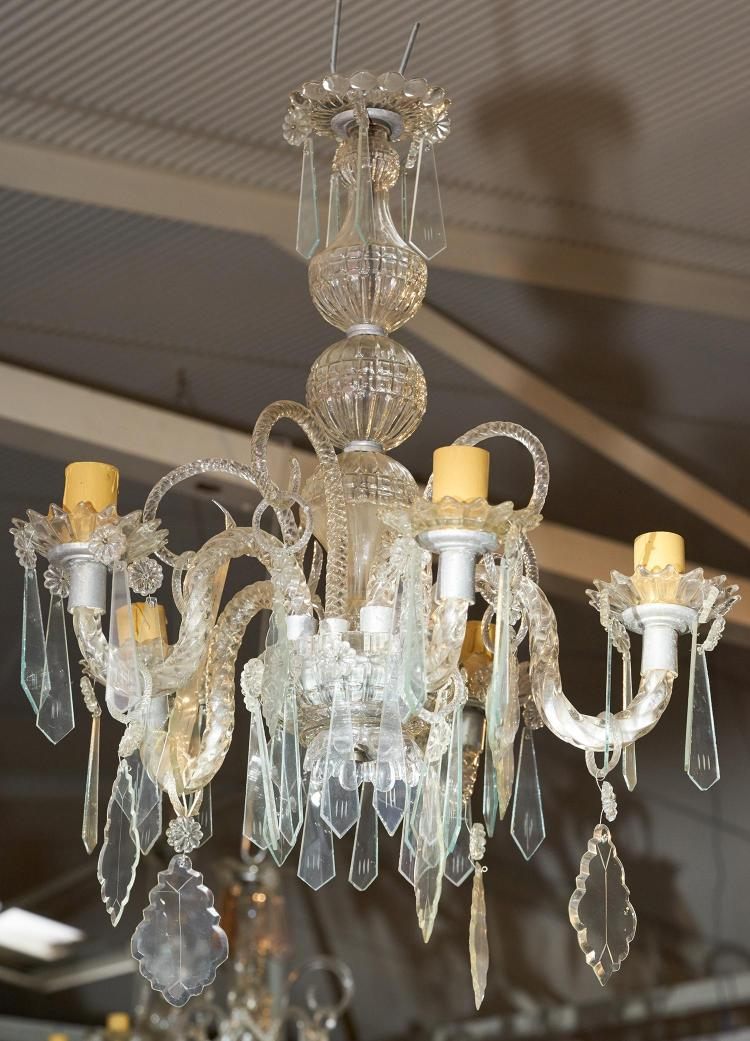 An early 20th century french five branch chandelier - Chandelier a 5 branches ...