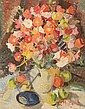 LUDMILLA MEILERTS (1908-1998) Poppies 1970 oil on board, L. Krastina-Meilerte, Click for value