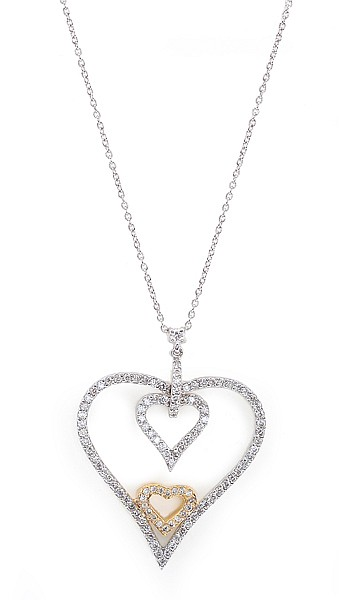 A DIAMOND HEART PENDANT