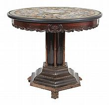 A FINE, EARLY VICTORIAN, MICRO MOSIAC AND SPECIMIN MARBLE TOPPED CENTRE TABLE, CIRCA 1840