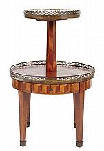 A FRENCH PARQUETRY ETAGERE, EARLY 20TH CENTURY