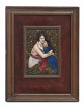 LIMOGES LATE 19TH CENTURY ENAMEL PLAQUE, SIGNED LAUTH