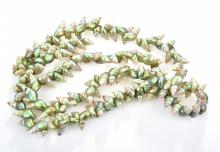 A GREEN SHELL NECKLACE