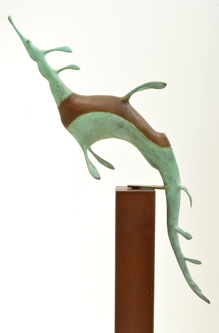 ANTHONY VANDERZWEEP (born 1960) Seahorse 2006 bronze on steel plinth edition 4/6