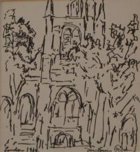 DESIRUS ORBAN, LONDON, INK ON PAPER