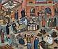 Sarah Faulkner (born 1959) The Market of the Dead Marrakech 1989 oil on canvas, Sarah (1959) Faulkner, Click for value