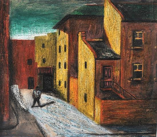 James Cant (1911-1983) The Factory 1946 pastel