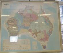A LARGE MAP OF AUSTRALIA (2m x 2m)