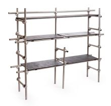 AN EARLY 20th CENTURY INDUSTRIAL SHELVING UNIT BY TRIS
