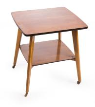 A 1960s FRENCH TWO TIER SIDE TABLE