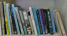 A SHELF OF MINIATURE REFERENCE BOOKS INCL. RAAF & DEMON TO VAMPIRE 'STORY OF NO 21 CITY OF MELBOURNE SQUADRON'