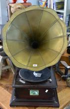 A 'HIS MASTERS VOICE' GRAMOPHONE