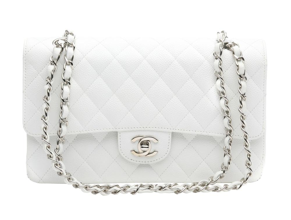 A DOUBLE FLAP SHOULDER BAG BY CHANEL