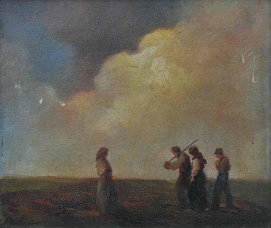 Géza Faragó (Hungarian, 1877-1928) The Workers oil on canvas