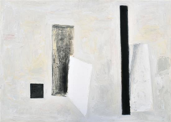 Kevin Lincoln (born 1941) Two White Cards No. 3 1986 oil on canvas