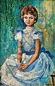 Elaine Haxton (1909-1999) The New Dress 1961 oil on board, Elaine Haxton, Click for value