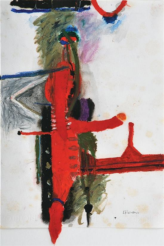 Ann Thomson (born 1933) Drop 1986 mixed media on paper