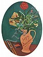 David Strachan (1919-1970) Soyez Bien-venue 1955 oil on board, David (1919) Strachan, Click for value