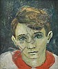 David Strachan (1919-1970) Portrait of a Boy 1956 oil on board, David (1919) Strachan, Click for value