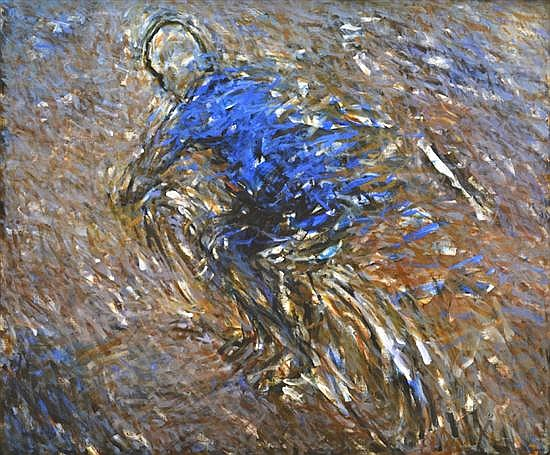 ROBERT HOLLINGWORTH (BORN 1947) Blue Rider 1991 oil on canvas