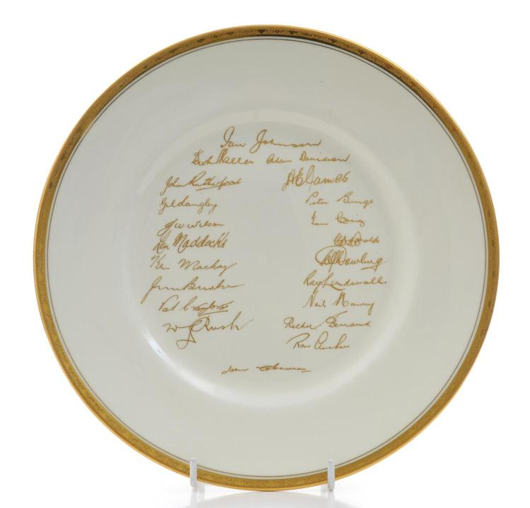 Royal Worcester 1956 Australian Cricket Team Plate
