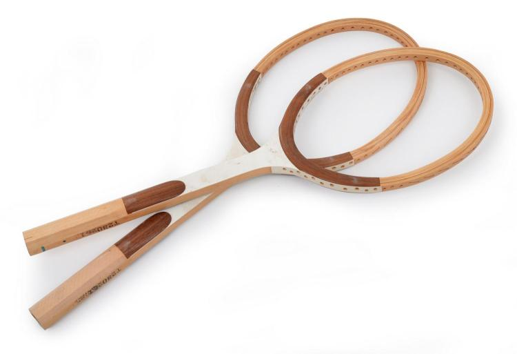 TWO DONNAY (BELGIUM) TENNIS RACQUETS C. LATE 1970'S (AS USED BY BJORN BORG IN 1980)