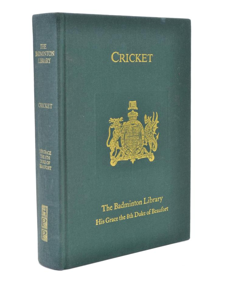 THE BADMINTON LIBRARY, 'CRICKET', 1987 REPRINT OF THE ORIGINAL PRINTED IN 1887
