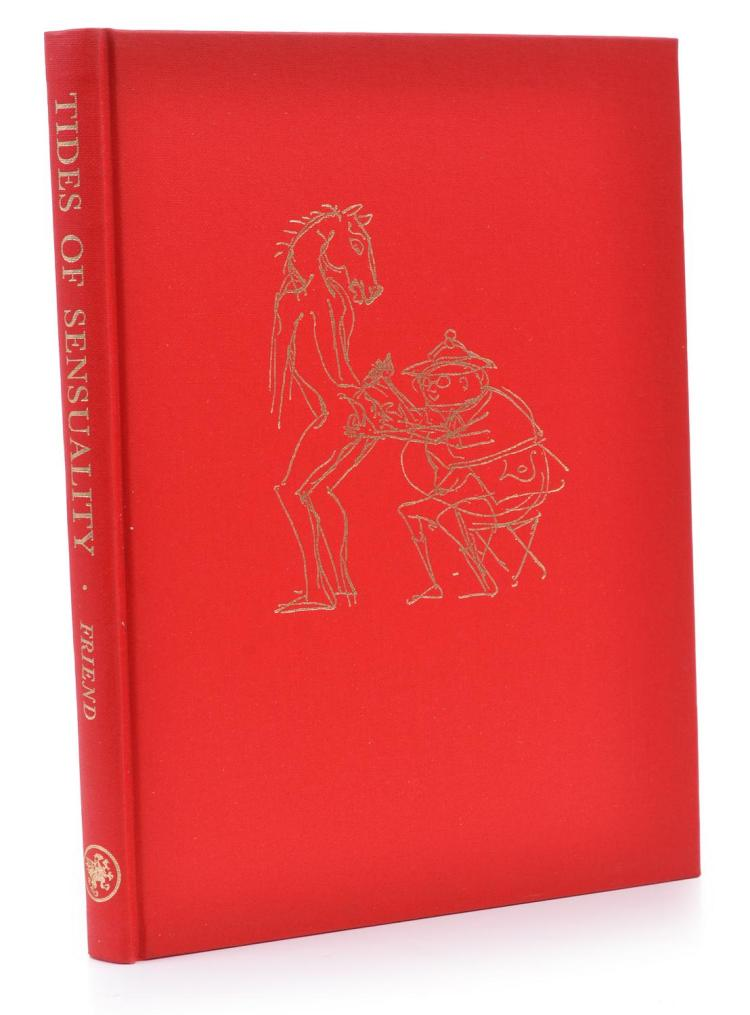 TIDES OF SENSUALITY, DONALD FRIEND, GRYPHON BOOKS, LIMITED EDITION 310/350, SIGNED BY THE ARTIST