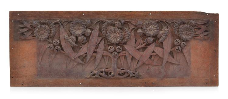 AN AUSTRALIAN RELIEF CARVED PANEL