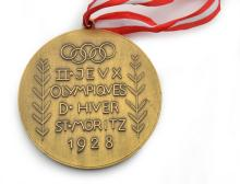 1928 ST MORITZ WINTER OLYMPIC GAMES PARTICIPATION MEDAL