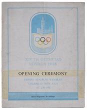 1948 LONDON OLYMPICS OPENING CEREMONY PROGRAM