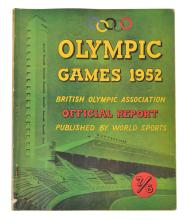 1952 HELSINKI OLYMPIC GAMES BRITISH ISSUE OLYMPIC ASSOCIATION OFFICIAL REPORT