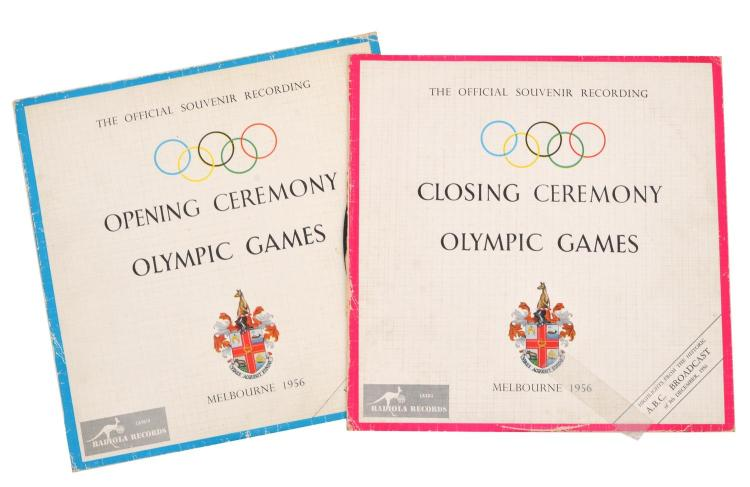 1956 MELBOURNE OLYMPICS OFFICIAL ABC SOUVENIR RECORDING RECORDS OF THE OPENING AND CLOSING CEREMONIES (2)