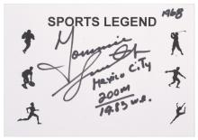 1968 MEXICO CITY OLYMPIC GAMES TOMMY SMITH AUTOGRAPH; 200M GOLD MEDALLIST