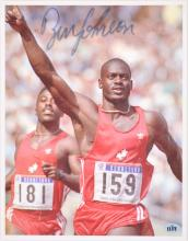 1988 SEOUL OLYMPIC GAMES AUTOGRAPHED PHOTO OF BEN JOHNSON
