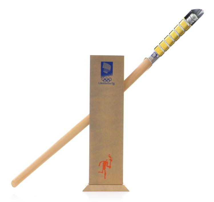 1994 LILLEHAMMER WINTER OLYMPIC GAMES SCALED REPLICA OF OLYMPIC TORCH
