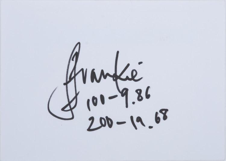FRANKIE FREDRICK- NAMIBIA'S FIRST AND SO FAR ONLY OLYMPIC MEDALLIST- AUTOGRAPH ON CARD