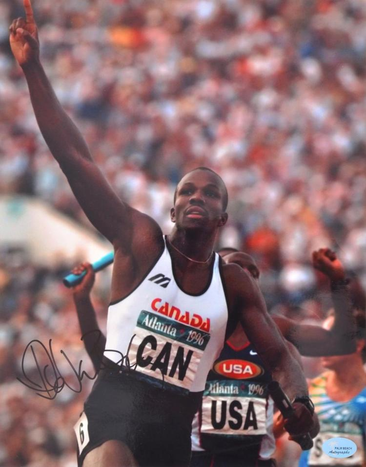 DONOVAN BAILEY (FORMER 100M WORLD RECORD HOLDER AND 1996 ATLANTA OLYMPIC GAMES GOLD MEDALLIST) AUTOGRAPHED PHOTO