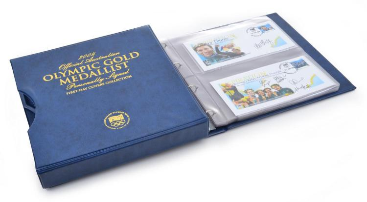 2004 ATHENS OLYMPIC GAMES OFFICIAL AUSTRALIAN GOLD MEDALLIST PERSONALLY SIGNED FIRST DAY COVERS COLLECTION