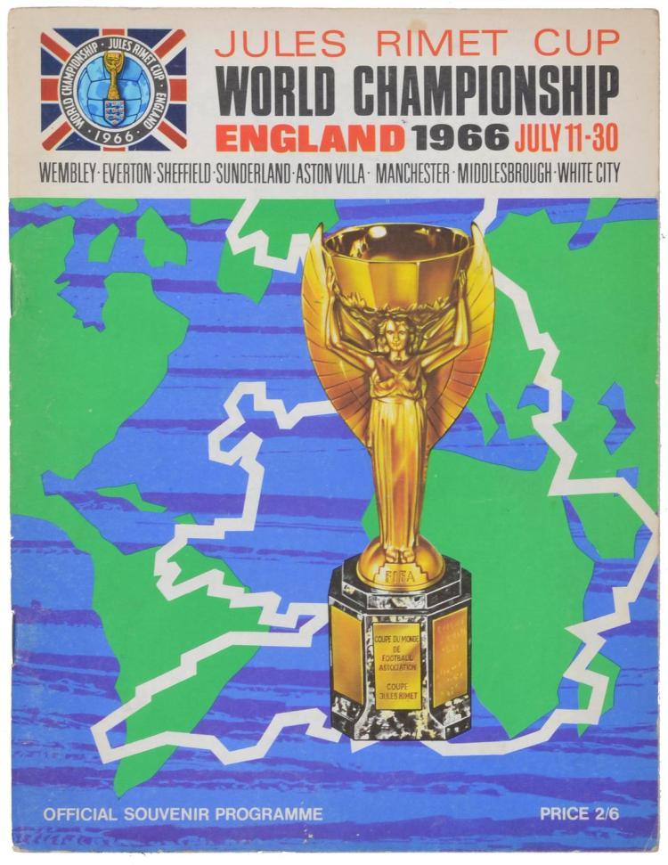1966 FOOTBALL WORLD CUP OFFICIAL SOUVENIR PROGRAM