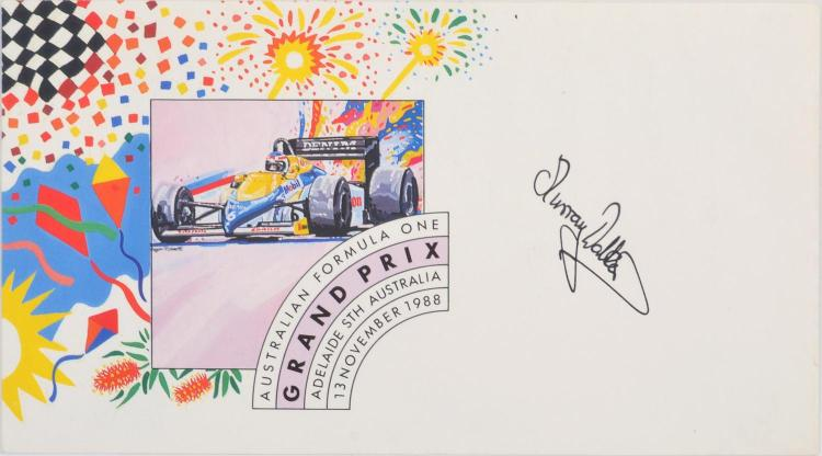 MURRAY WALKER SIGNED FIRST DAY COVER FROM 1988 AUSTRALIAN GRAND PRIX