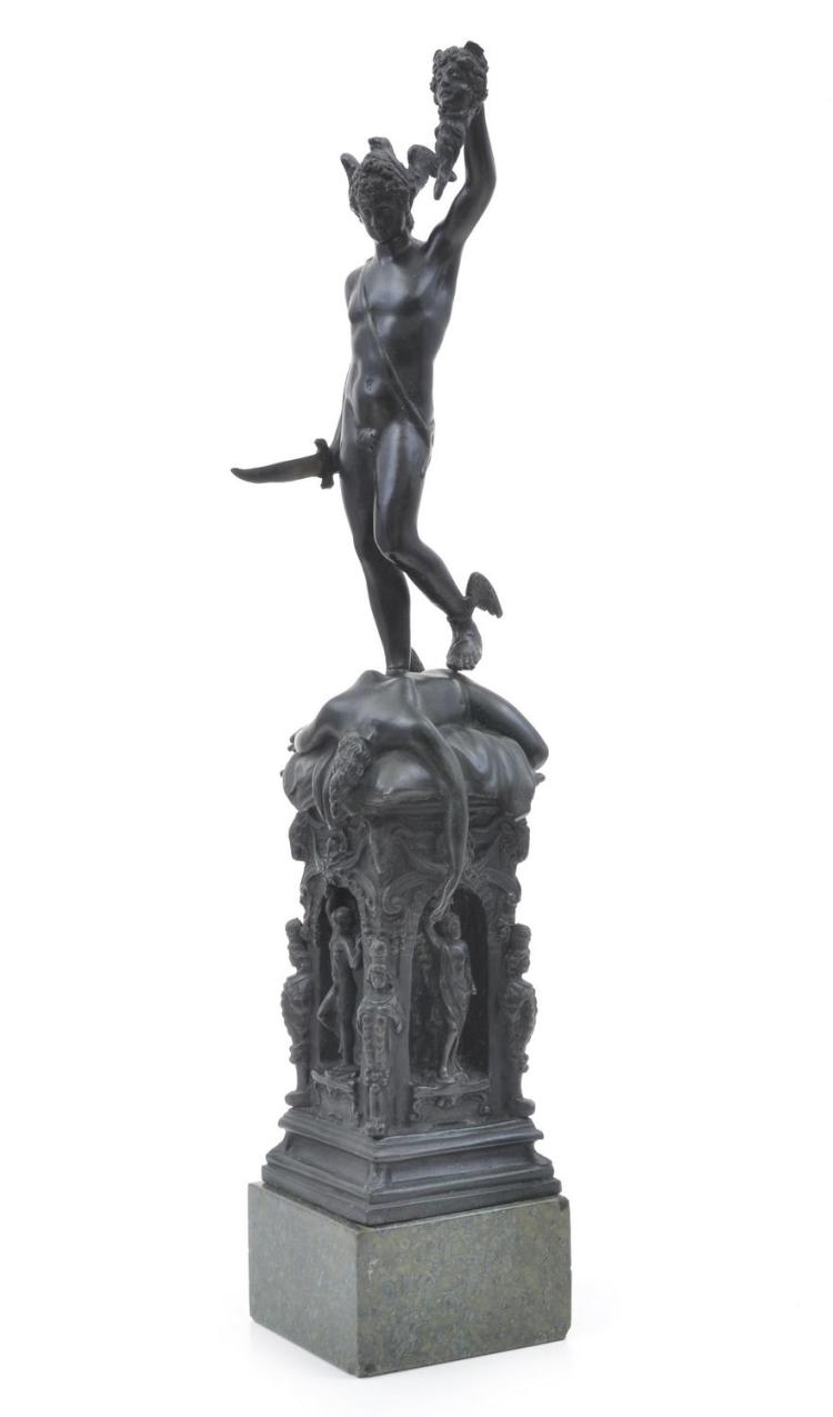 A BRONZE MYHTOLOGICAL STATUE, AFTER A MODEL BY BENVENUTO CELLINI, 19TH CENTURY