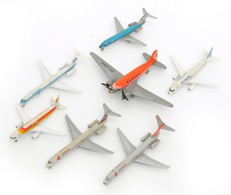 A COLLECTION OF SEVEN UNBOXED AEROPLANE MODELS